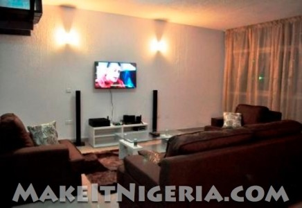 Ten sides fully serviced apartments victoria island Living room decoration in nigeria